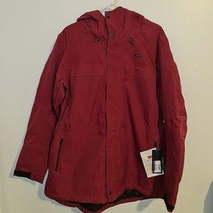 Womens Burgundy NWTs Oakley Winter Hooded Jacket
